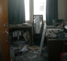<h5>Damage to the ITR Managment Offices</h5><p>July 2011</p>